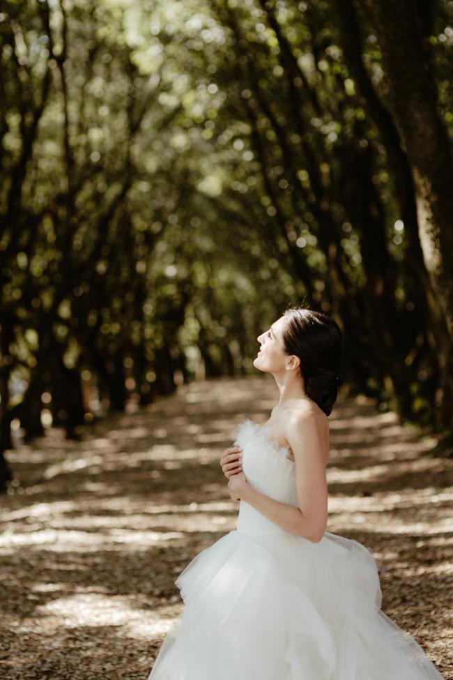 Bride wedding at Solfagnano castle