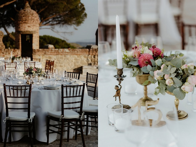 flower arrangements table decor luxury wedding in italy