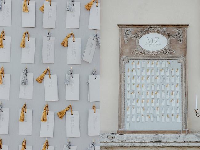 luxury tableau de mariage escort card elegant wedding in italy