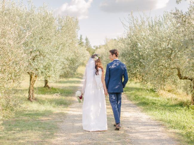 matrimonio intimo nella campagna toscana