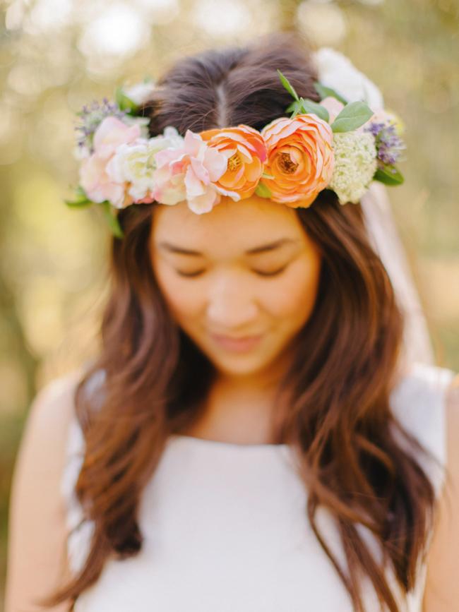 bride garland flowers